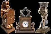 11 Foto Table Clock Egyptian Theme Tutankhamun Pyramid Of Gifts