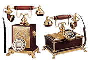 12 Foto Desk Phones Retro Style Pyramid Of Gifts