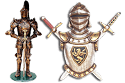 13 Foto Advertising Figures Knights And Armor Pyramid Of Gifts