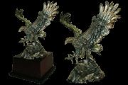2 Foto Tin Eagle Figure Pyramid Of Gifts