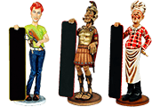 25 Foto Advertising Figures Hairdresser Roman Warrior Cook Pyramid Of Gifts