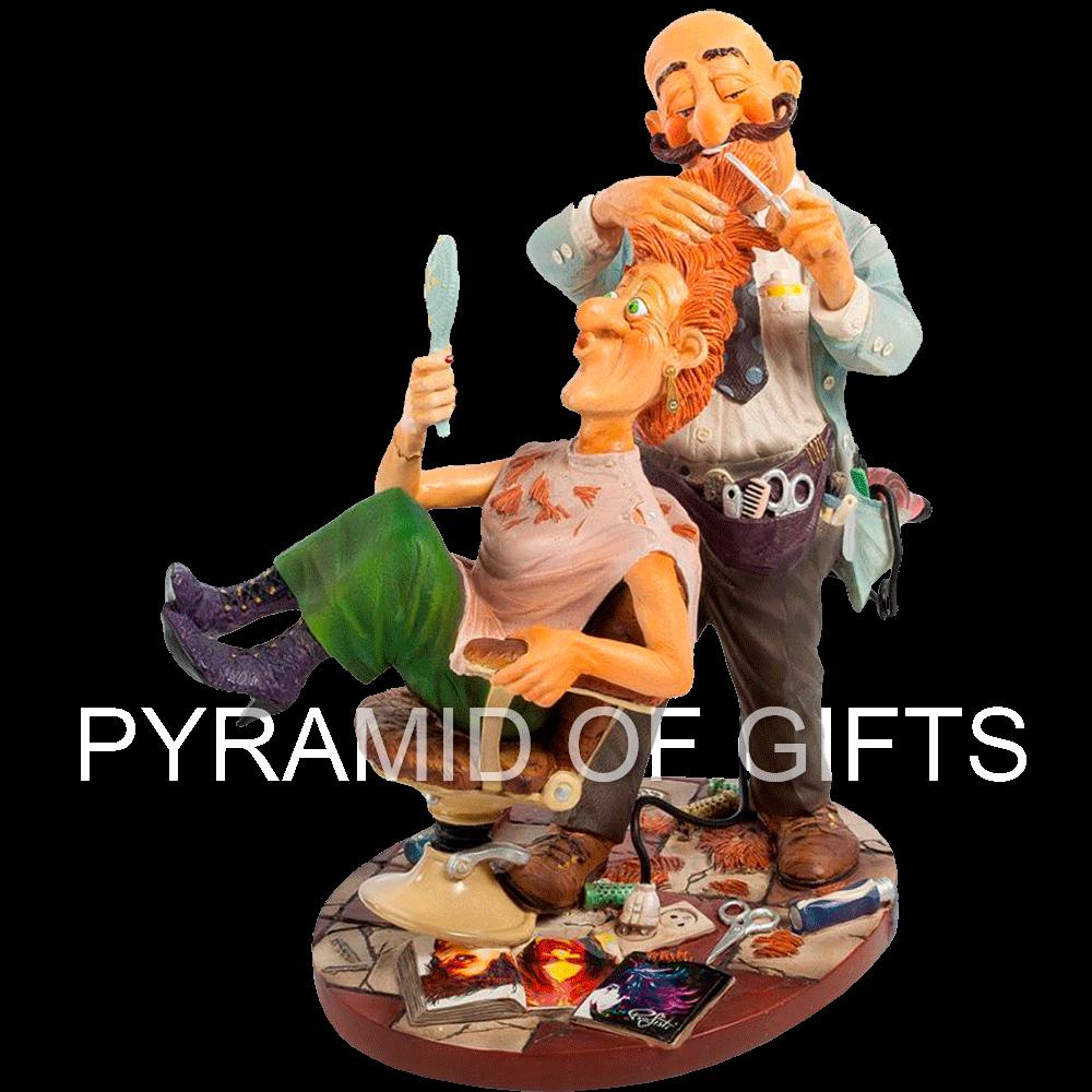 Фото - коллекционная статуэтка парикмахера - Pyramid Of Gifts