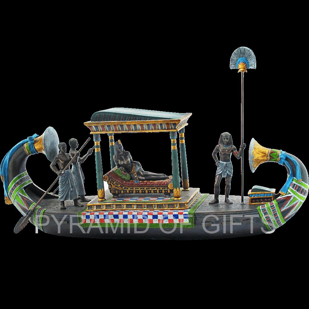 Фото - интерьерная статуэтка – Клеопатра в папирусной лодке - Pyramid Of Gifts