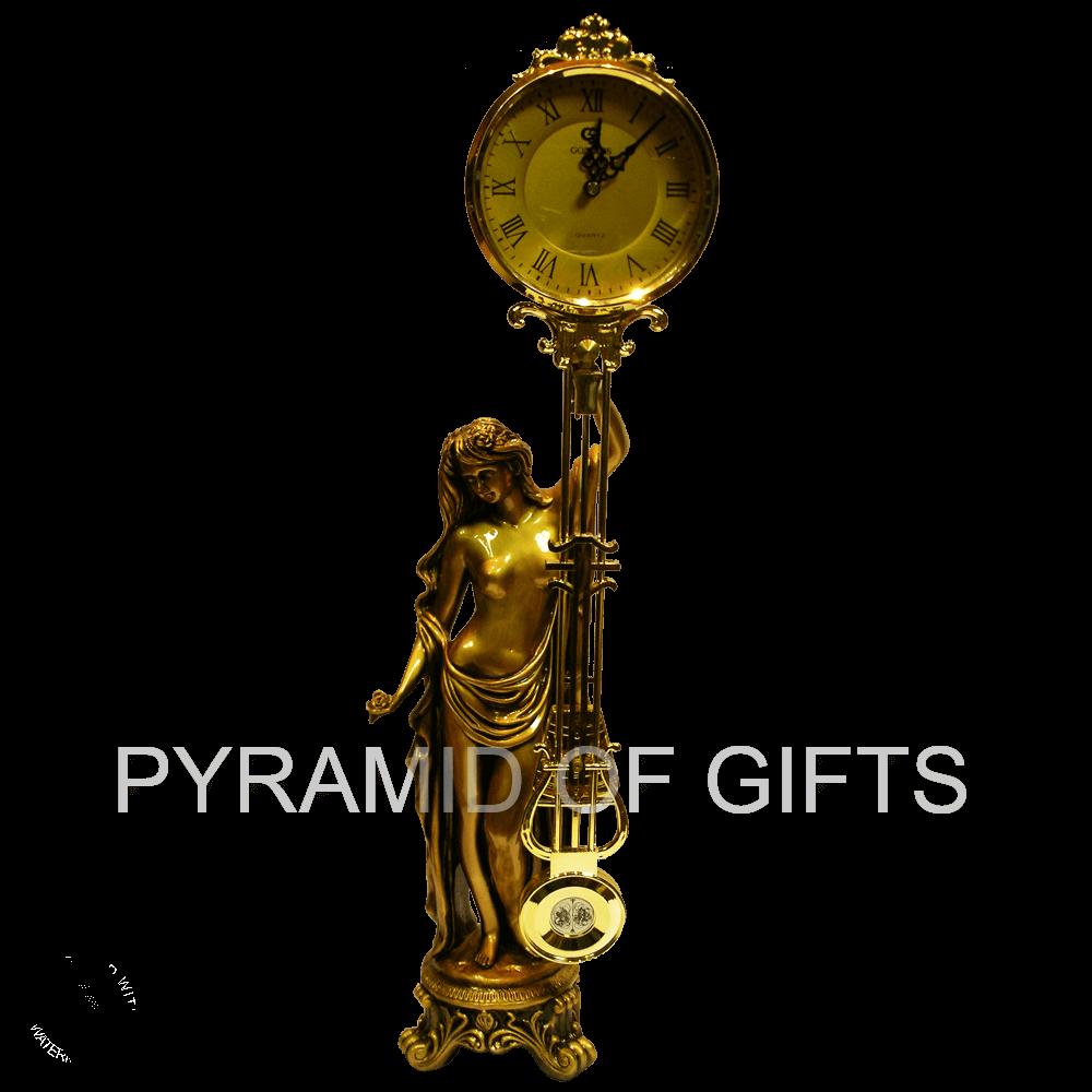 Фото - настольные (каминные) часы с маятником – Девушка - Pyramid Of Gifts