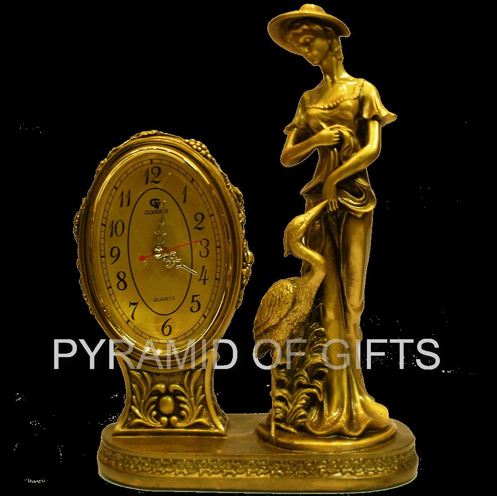 Фото - настольные часы – Девушка с цаплей - Pyramid Of Gifts
