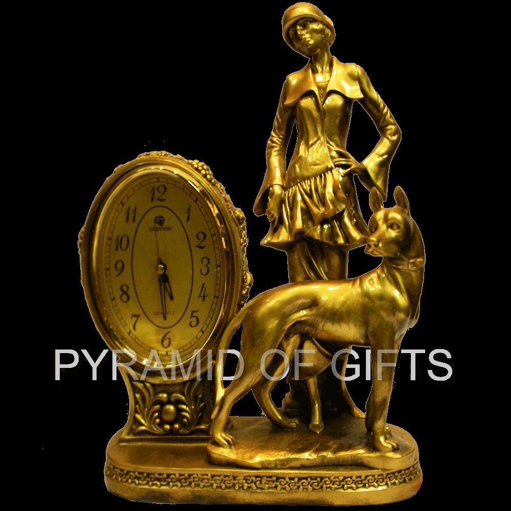 Фото - Каминные часы – Девушка с собакой - Pyramid Of Gifts