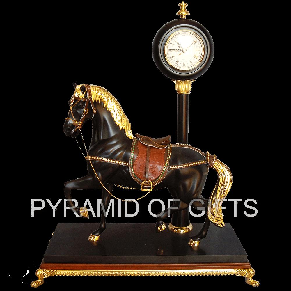 Фото - настольные (каминные) часы с лошадью - Pyramid Of Gifts