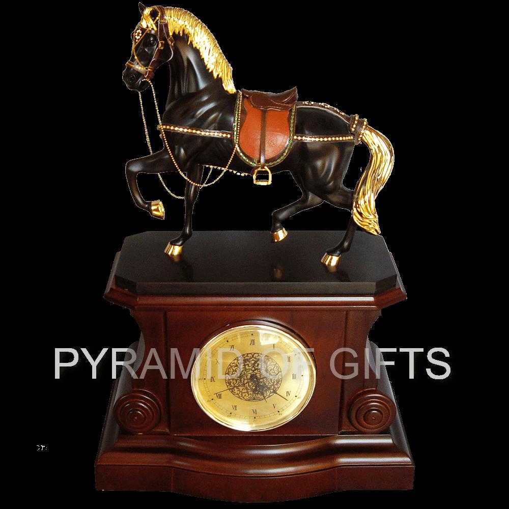 Фото - настольные (каминные) часы - фигурка лошади - Pyramid Of Gifts