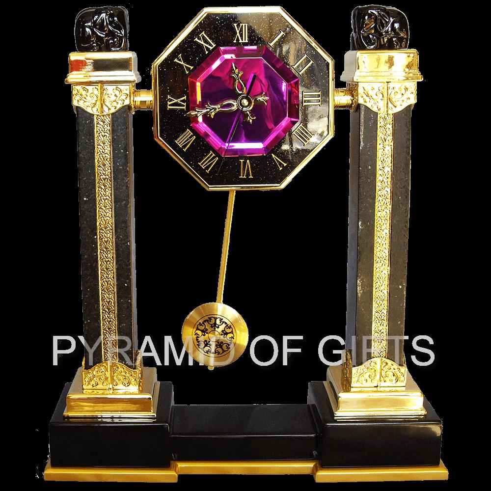 Фото - настольные (каминные) часы с маятником - Pyramid Of Gifts