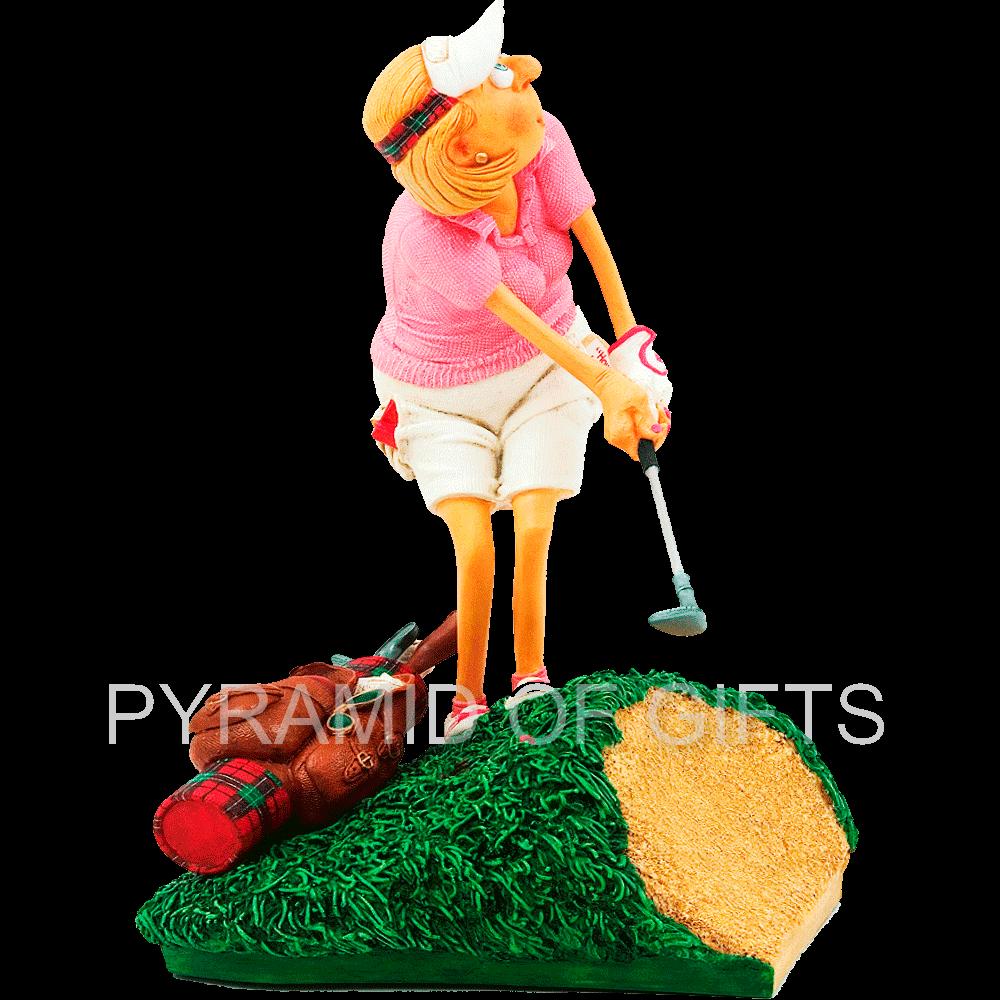Фото - коллекционная статуэтка гольфистка - Pyramid Of Gifts