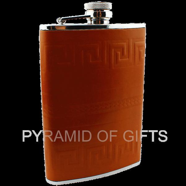 Фото - подарочная фляжка для алкоголя 8oz - Pyramid Of Gifts