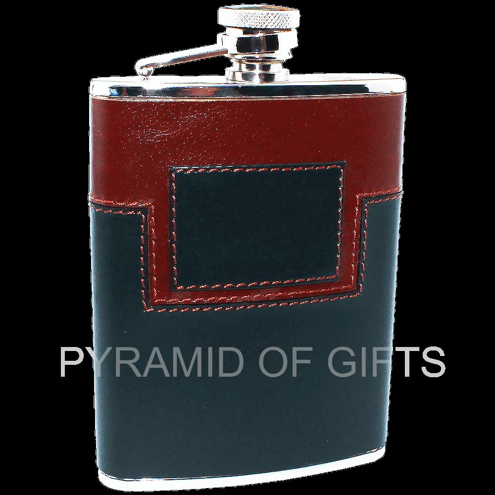 Фото - плоская фляжка для алкоголя 6oz - Pyramid Of Gifts