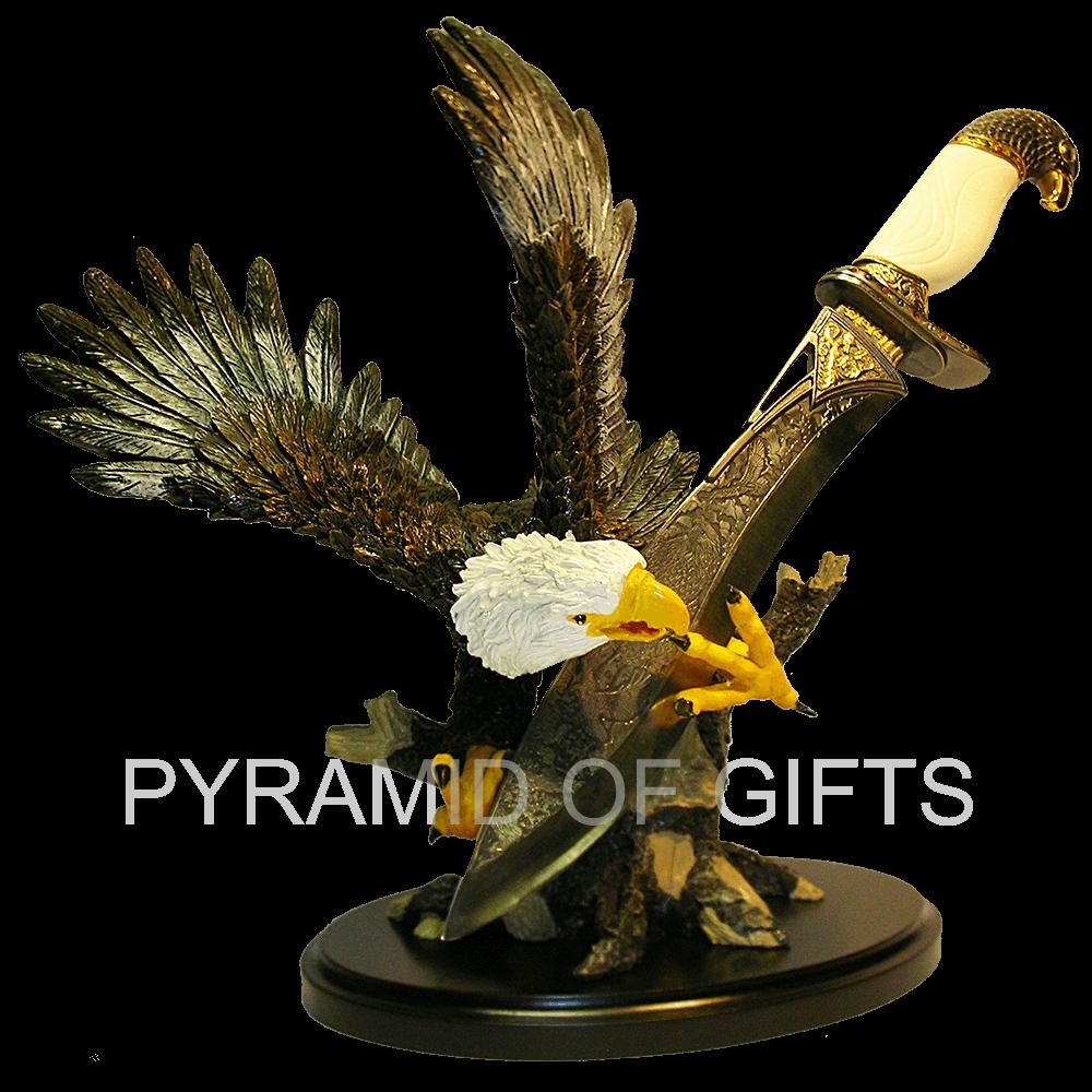 Фото - интерьерный сувенирный кинжал с фигурой орла - Pyramid Of Gifts
