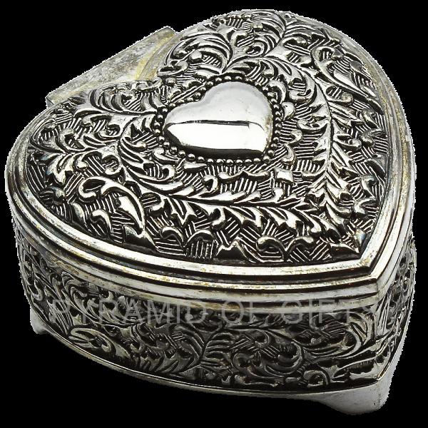 Фото - металлическая шкатулка – форма сердца - Pyramid Of Gifts