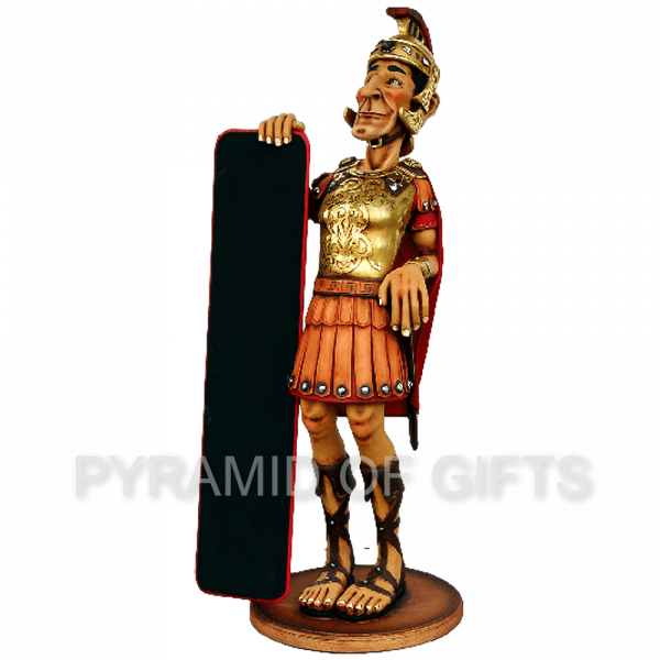Фото - рекламная, ростовая фигура – Римский воин с меню - Pyramid Of Gifts