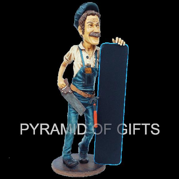 Фото - рекламная, ростовая фигура – Слесарь с меню - Pyramid Of Gifts