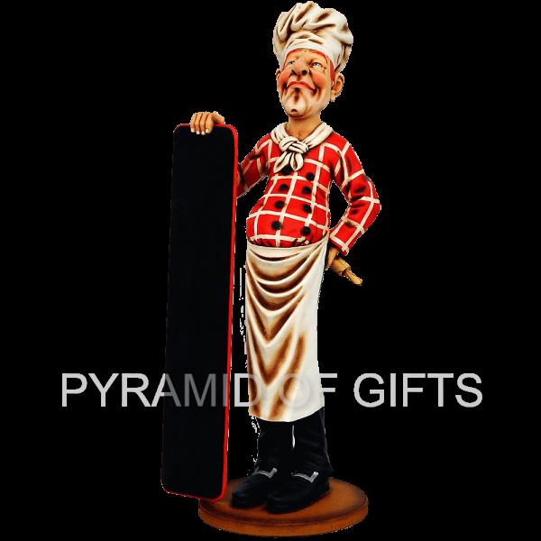 Фото - ростовая, рекламная фигура – Повар - Pyramid Of Gifts