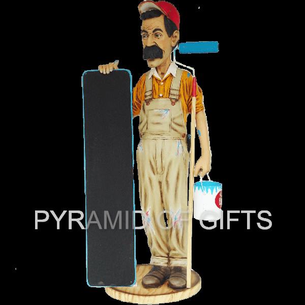 Фото - Рекламный стенд, ростовая фигура – Маляр с меню - Pyramid Of Gifts