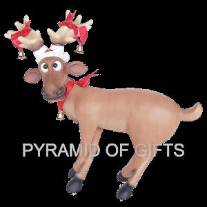Фото - рекламная фигура – Веселый Рождественский олень - Pyramid Of Gifts