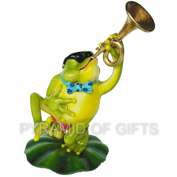 Фото - рекламная фигура – Лягушка с горном - Pyramid Of Gifts