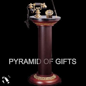 Фото - напольный телефон стойка – РЕТРО стиля - Pyramid Of Gifts