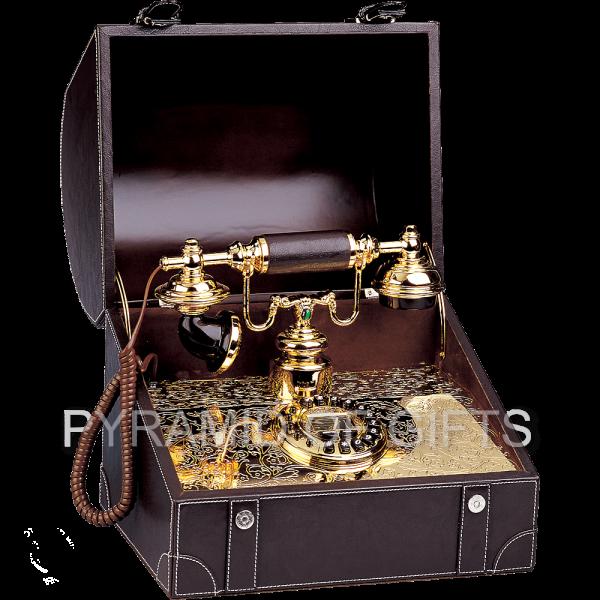 Фото - старинный, настольный телефон сундук – РЕТРО стиля - Pyramid Of Gifts