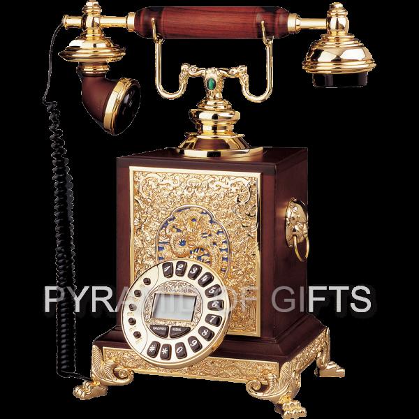 Фото - настольный, проводной телефон ретро стиля - Pyramid Of Gifts