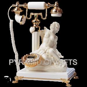 Фото - настольный телефон с фигуркой богини Дианы – ретро стиль - Pyramid Of Gifts
