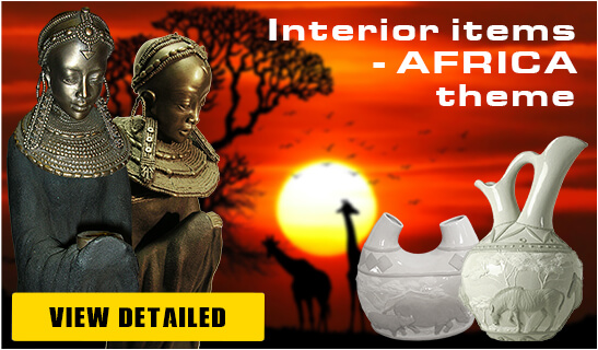 Banner Foto Polymer Figures African Theme - Pyramid Of Gifts