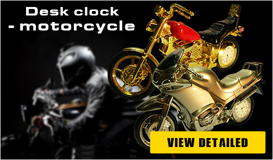 Banner Foto Table Clock Motorcycles - Pyramid Of Gifts