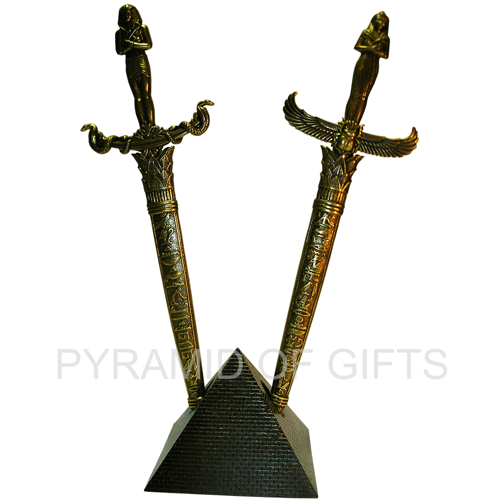 Фото - интерьерная, сувенирная пирамида с 2-мя кинжалами - Pyramid Of Gifts