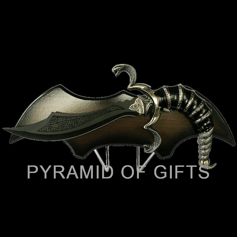 Фото - сувенирный кинжал – змея кобра, фентази - Pyramid Of Gifts
