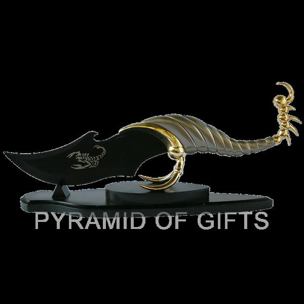 Фото - сувенирный кинжал – скорпион фентази - Pyramid Of Gifts