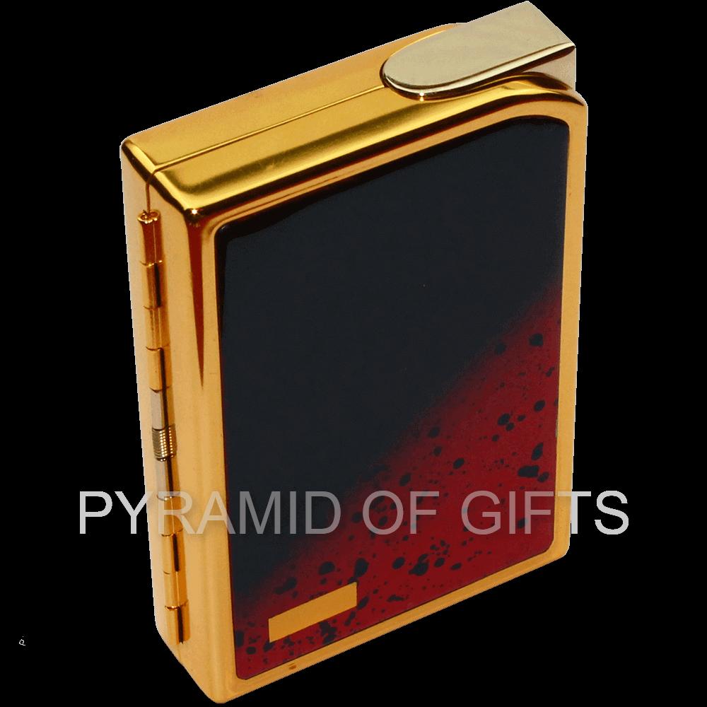 Фото - Портсигар с зажигалкой SAROME - CC7-01 газовая пьезо - Pyramid Of Gifts