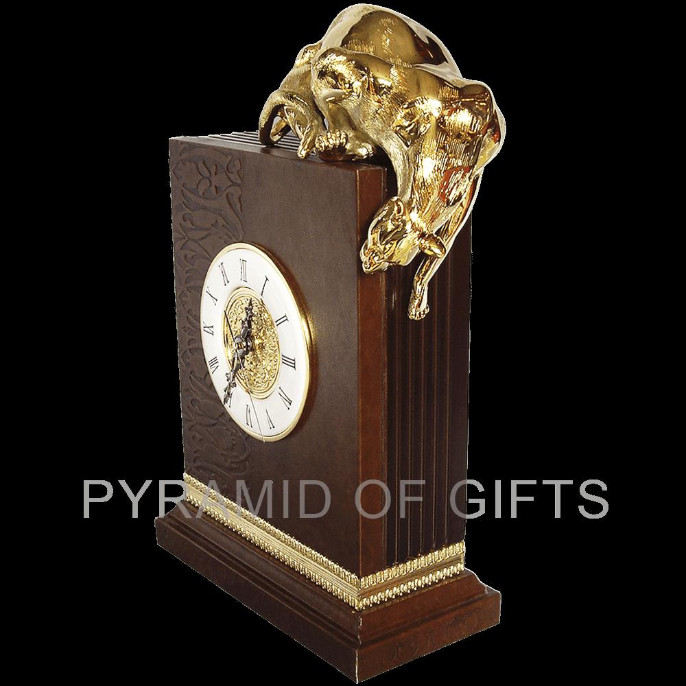 Фото - Интерьерные часы на камин, с фигурой пантеры - Pyramid Of Gifts
